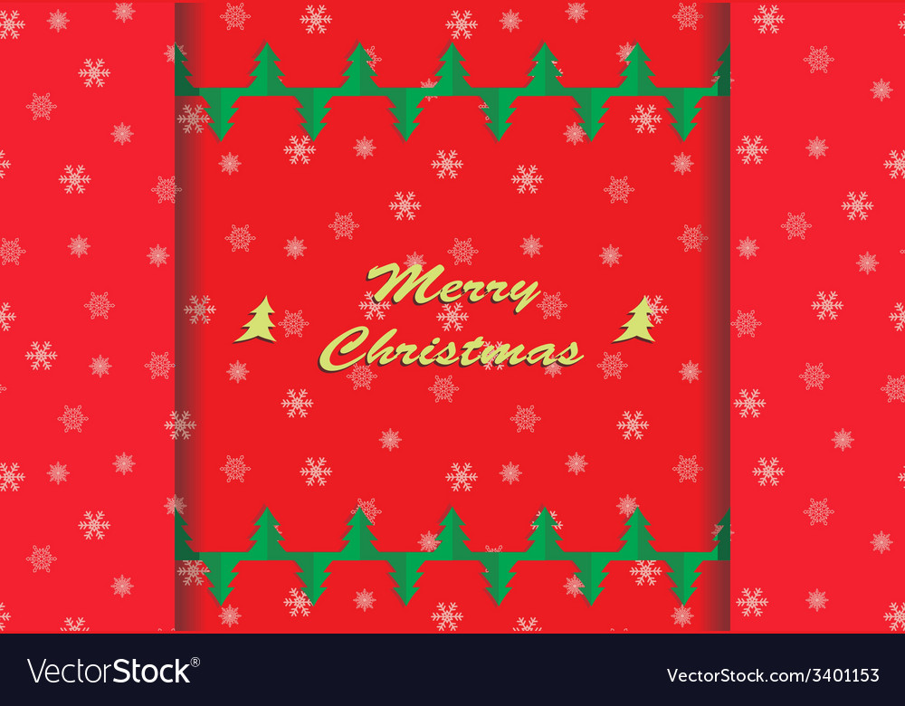 Christmas card with snowflake ornaments vector | Price: 1 Credit (USD $1)