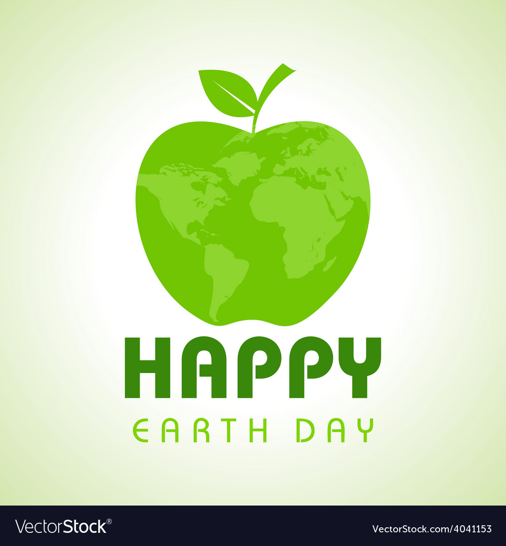 Creative happy earth day greeting stock vector   Price: 1 Credit (USD $1)