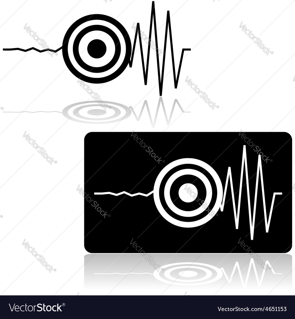 Earthquake icon vector | Price: 1 Credit (USD $1)