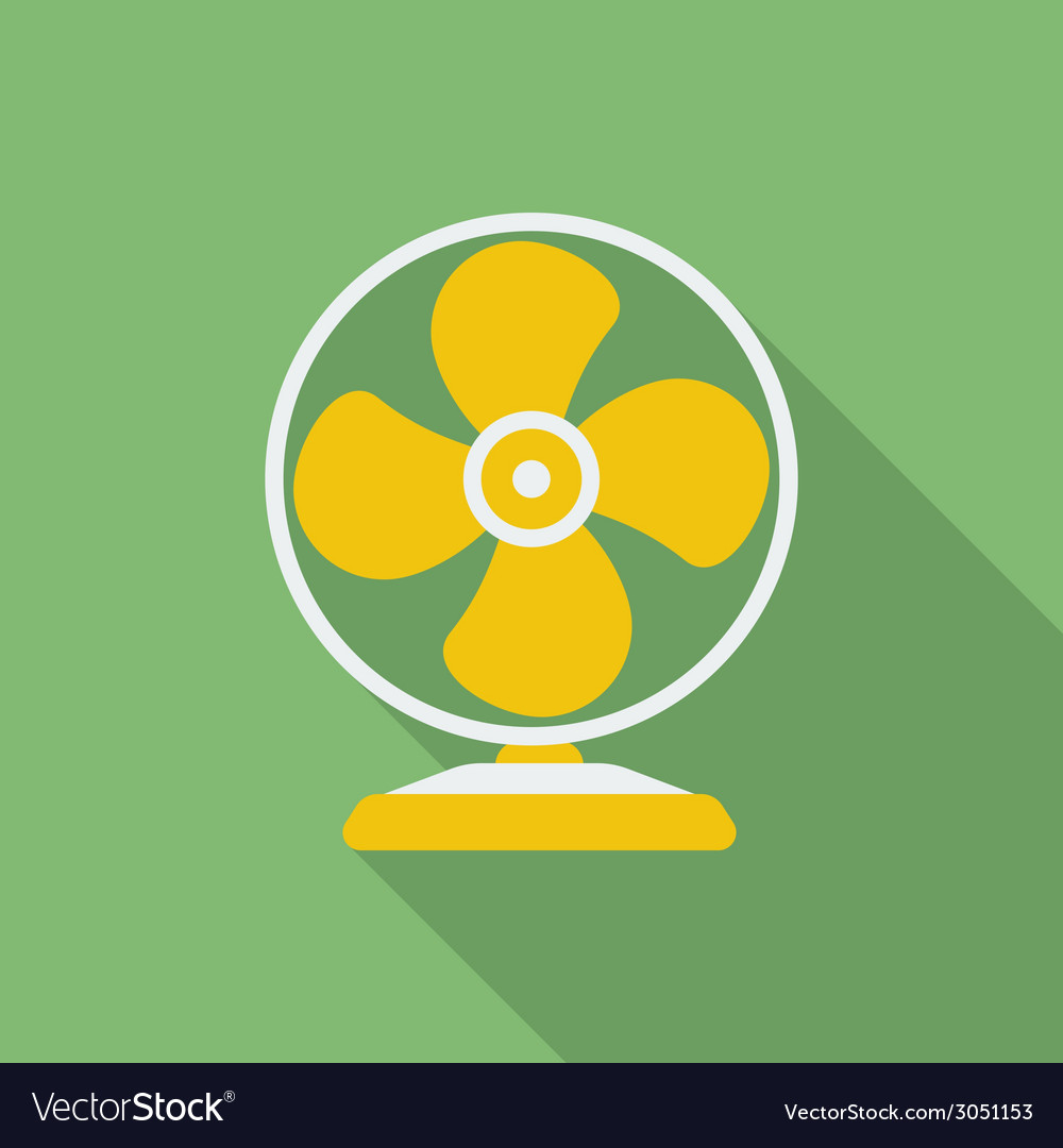 Fan or ventilator icon modern flat style with a vector | Price: 1 Credit (USD $1)