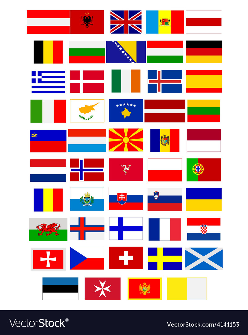 Flags of european countries vector | Price: 1 Credit (USD $1)