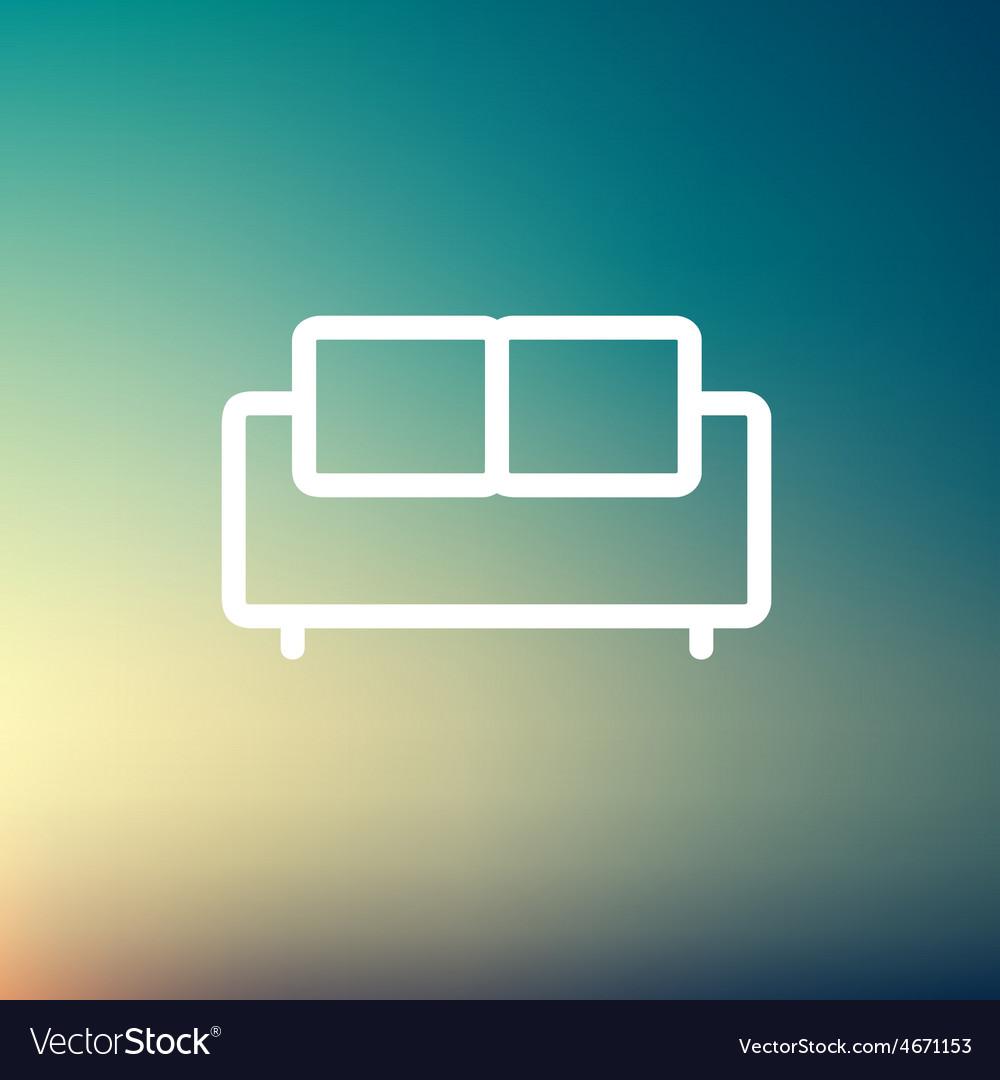 Furniture sofa thin line icon vector | Price: 1 Credit (USD $1)