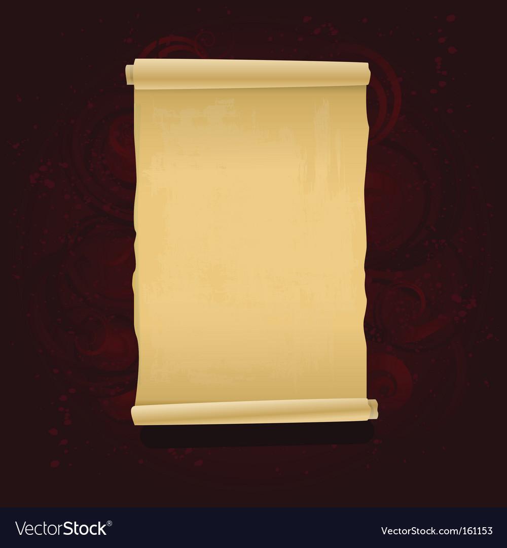 Grunge scroll vector