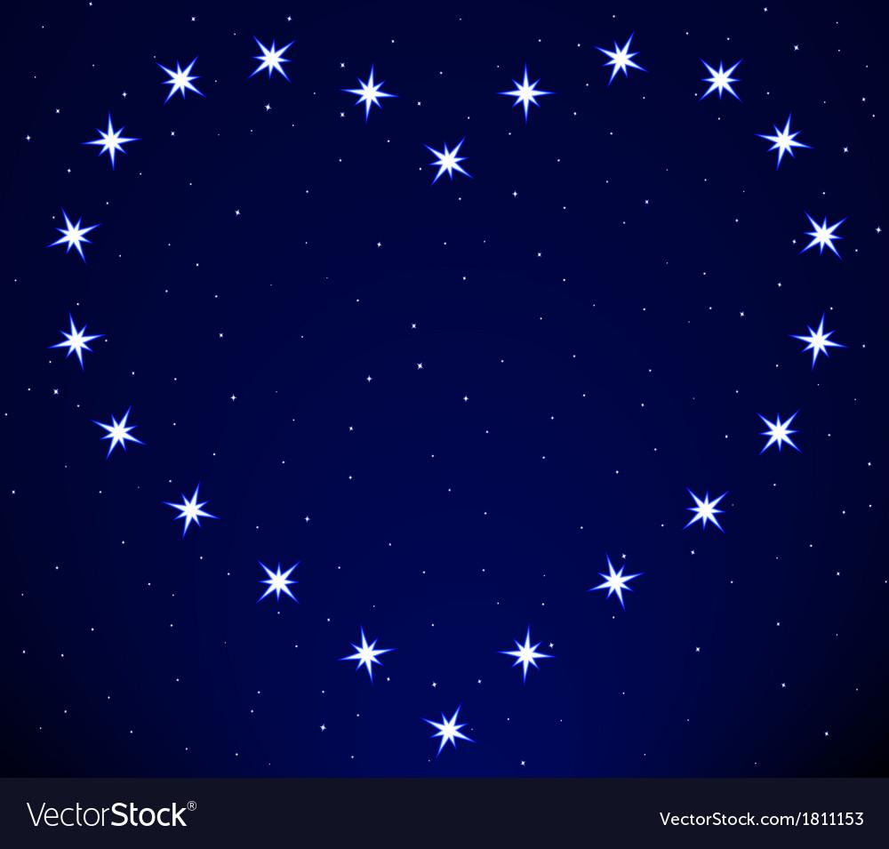 Heart constellation vector | Price: 1 Credit (USD $1)