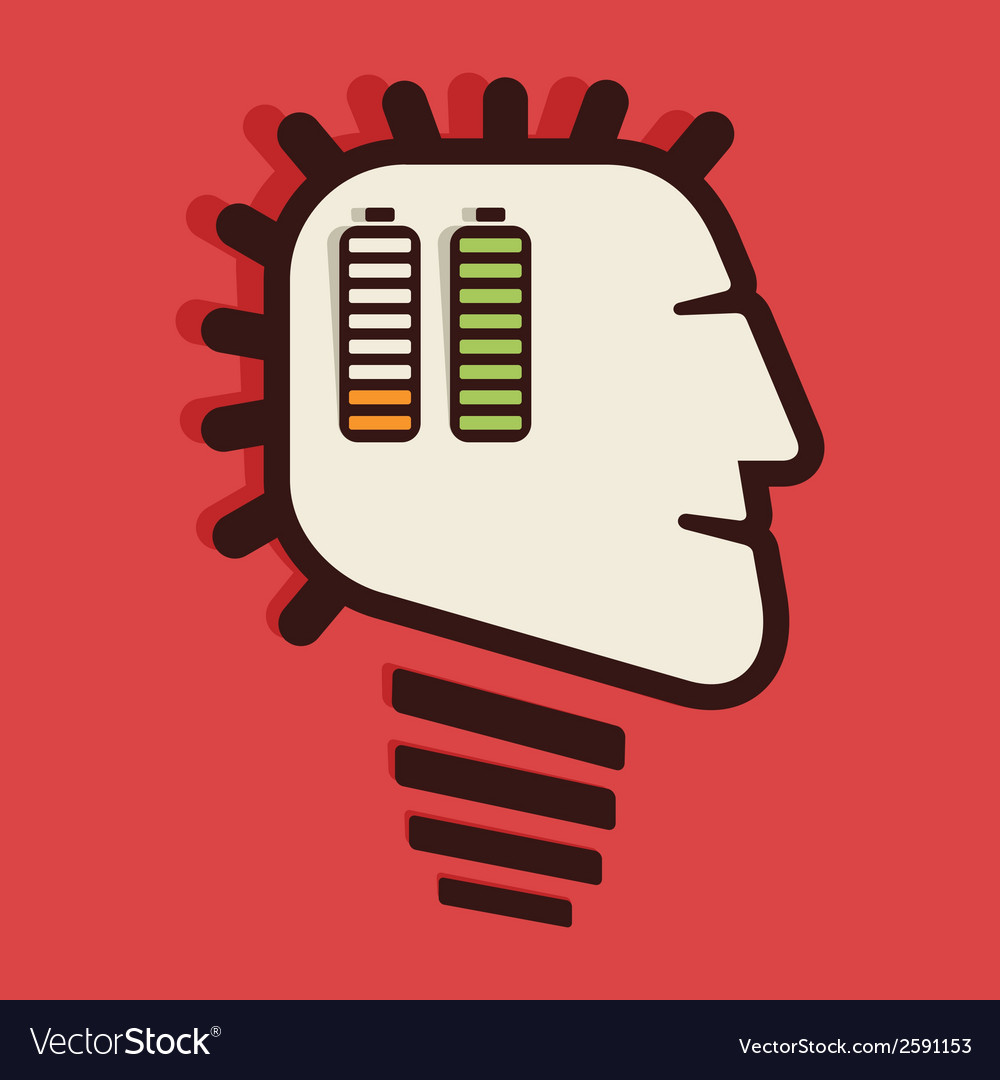 Human brain charge condition vector | Price: 1 Credit (USD $1)