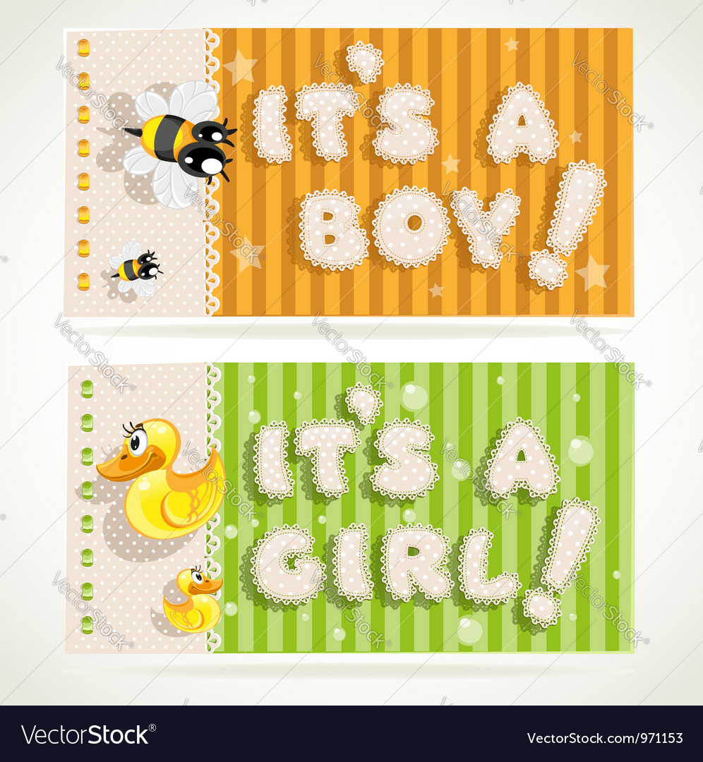 Its a boy and its a girl banners 2 vector | Price: 1 Credit (USD $1)
