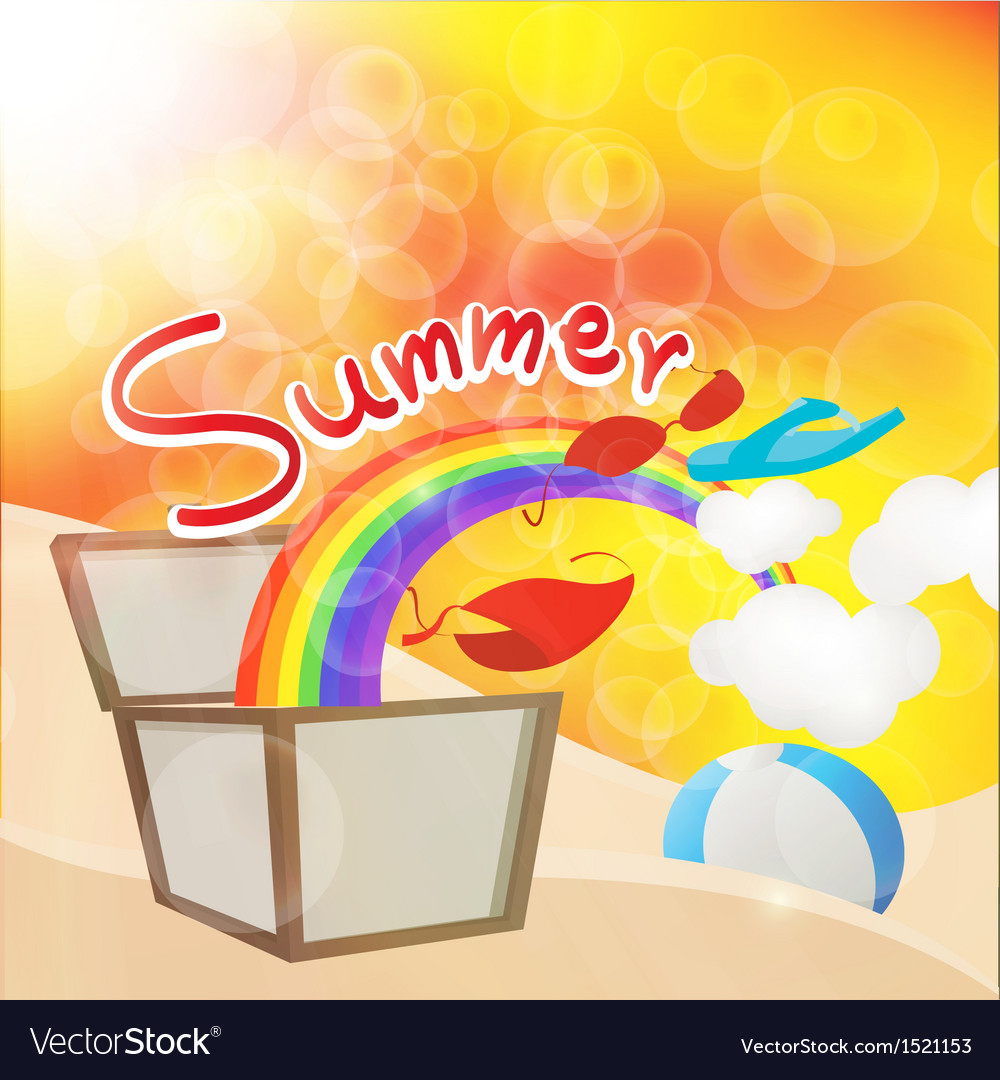 Summer box vector | Price: 1 Credit (USD $1)