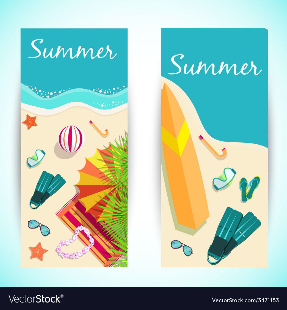 Summer vecetion time background concept vector | Price: 1 Credit (USD $1)