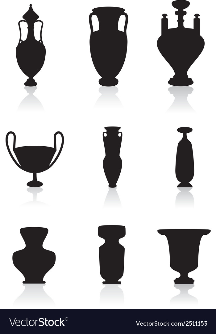 Vases bottles and urns vector | Price: 1 Credit (USD $1)