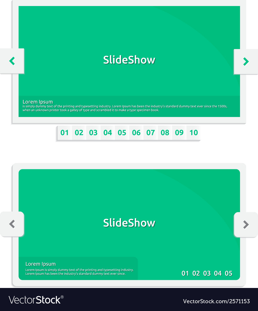 Website slideshow template vector | Price: 1 Credit (USD $1)