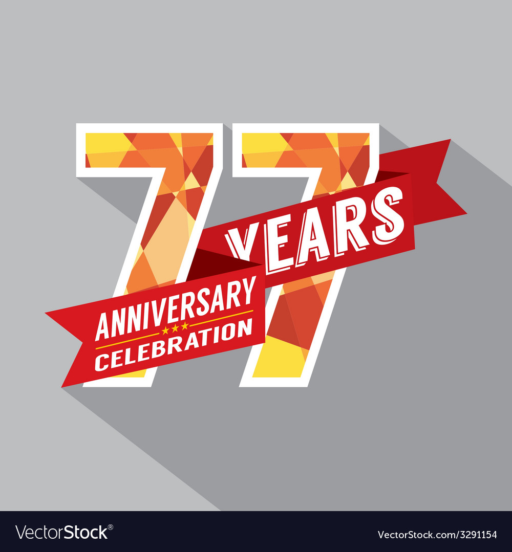 77th years anniversary celebration design vector | Price: 1 Credit (USD $1)