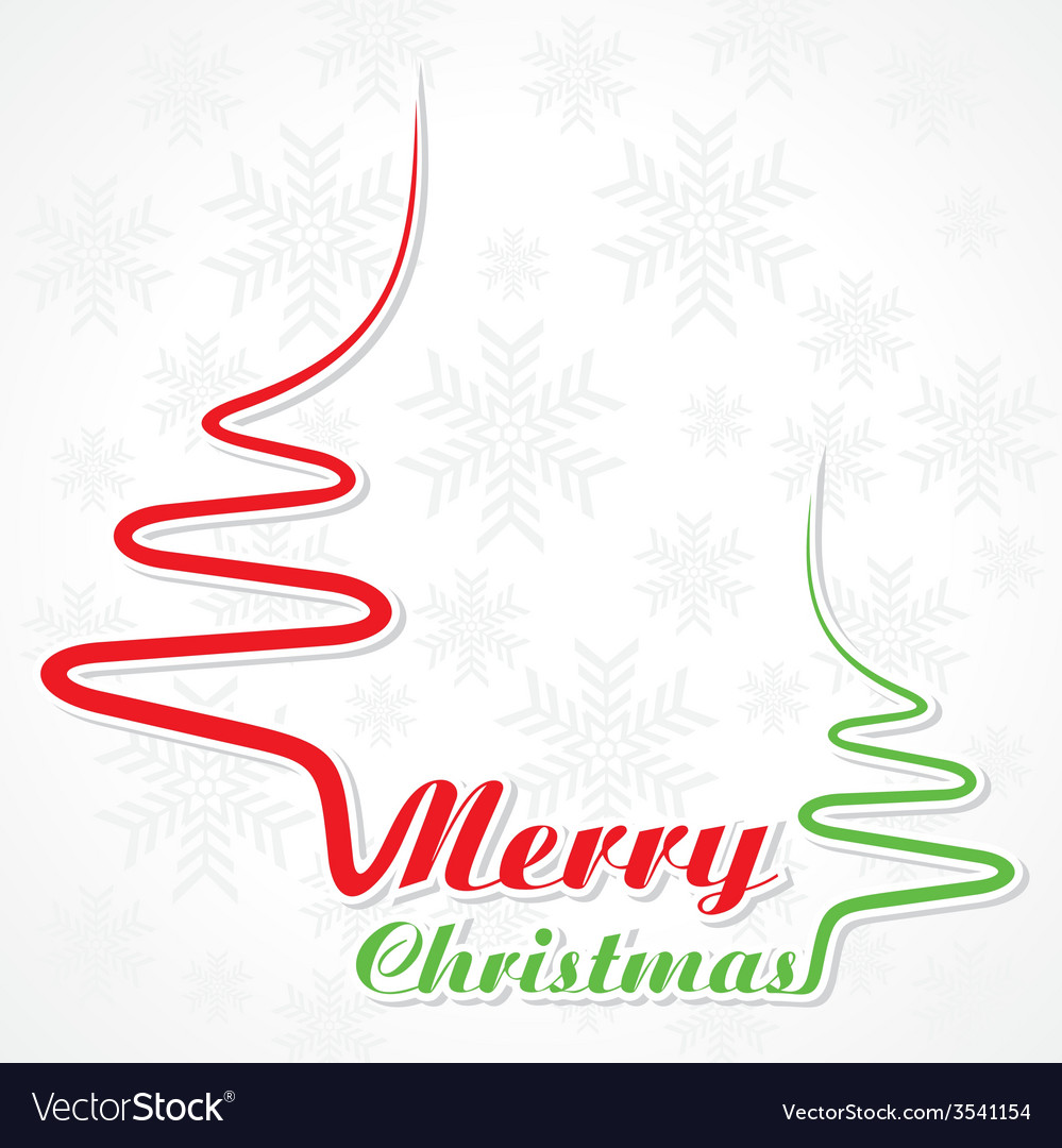 Abstract background christmas tree with text vector | Price: 1 Credit (USD $1)