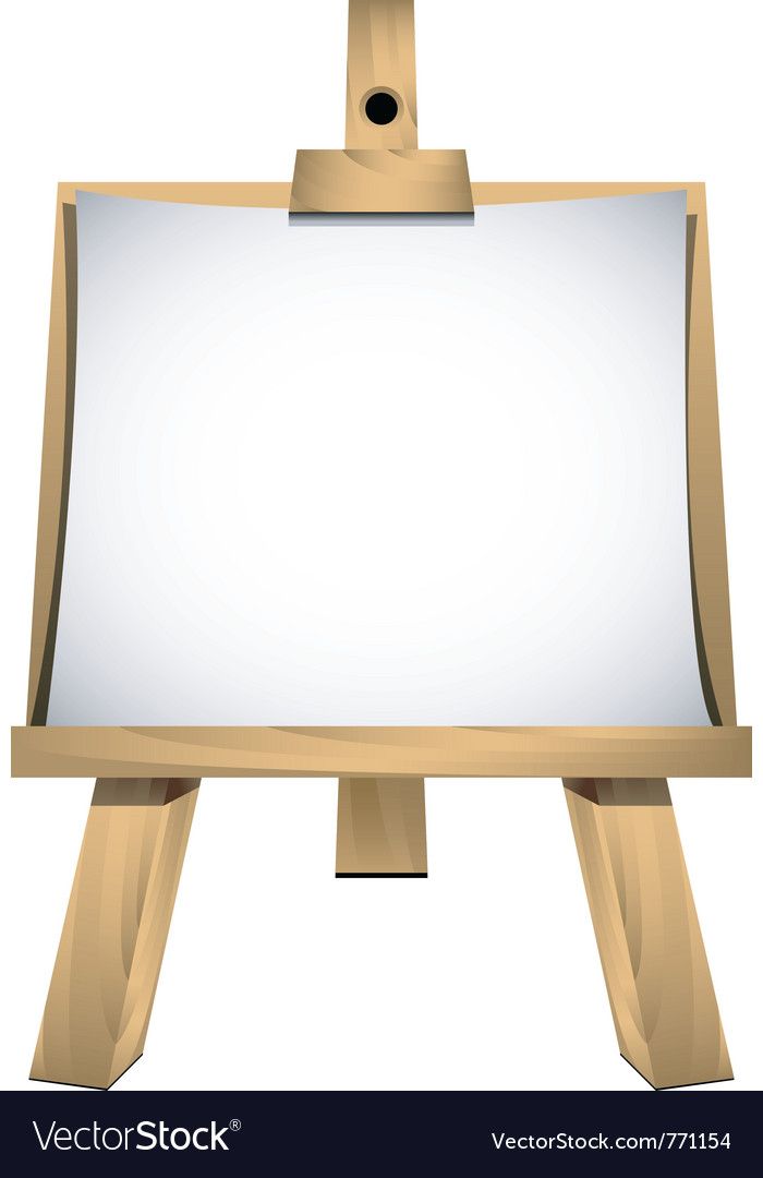 Art easel vector | Price: 1 Credit (USD $1)