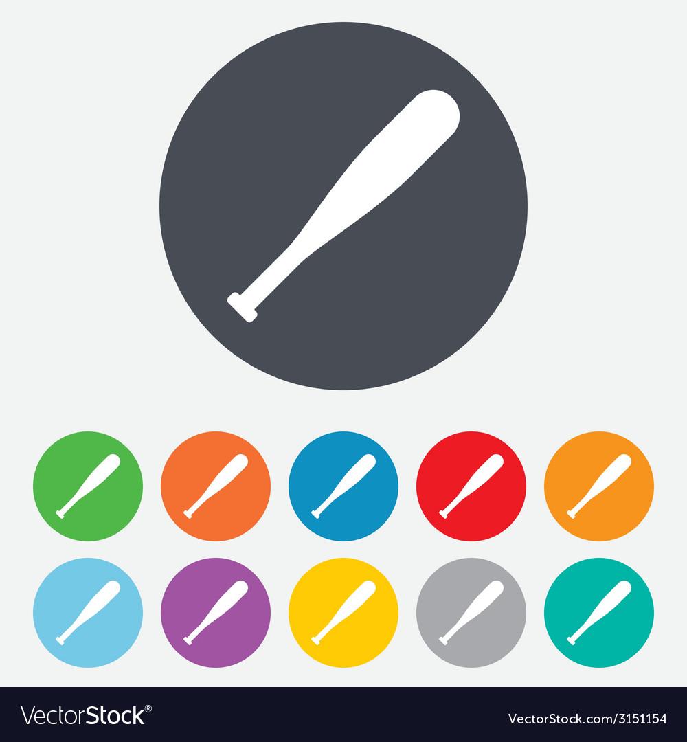 Baseball bat sign icon sport symbol vector | Price: 1 Credit (USD $1)