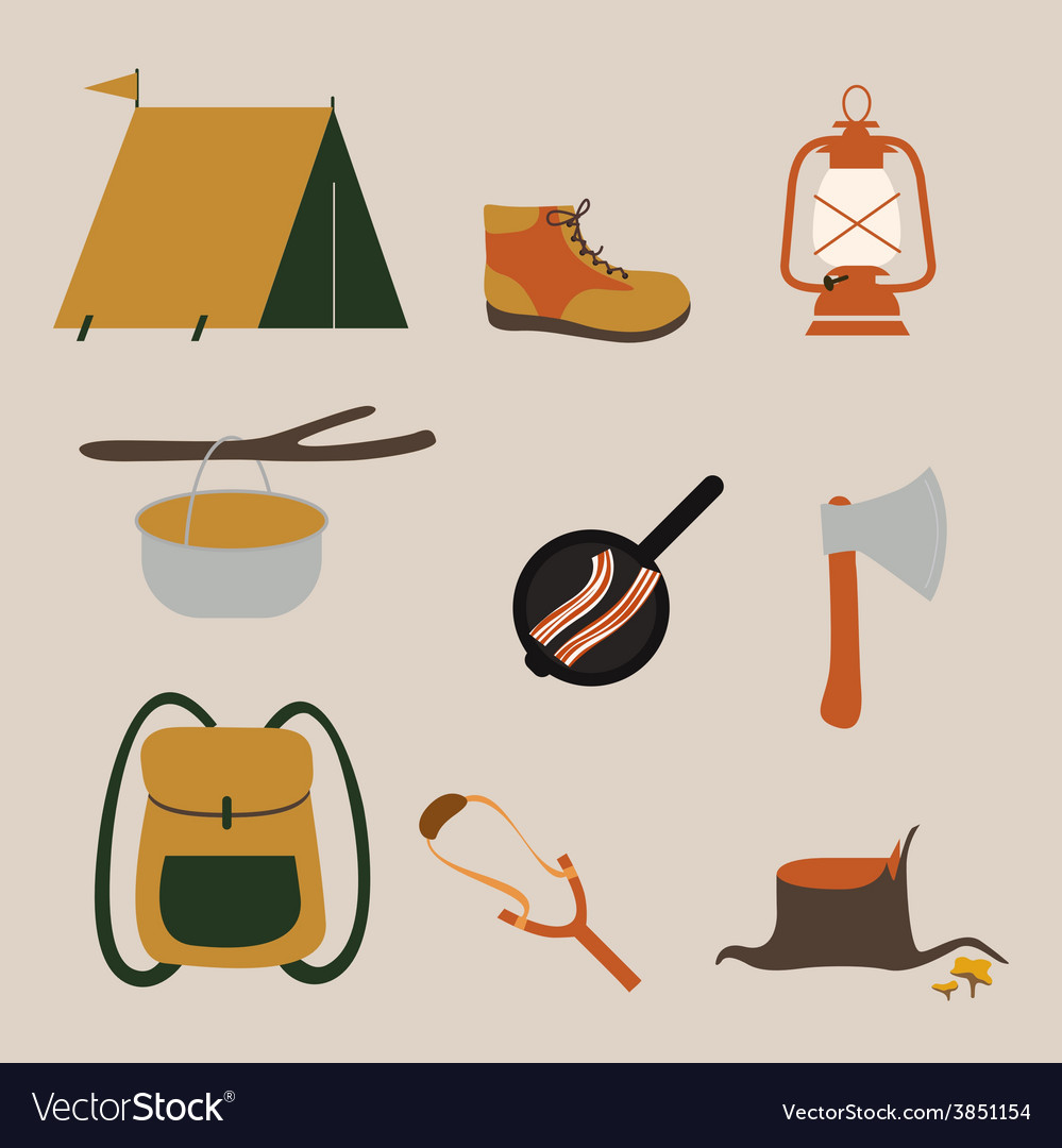 Camping vector | Price: 1 Credit (USD $1)