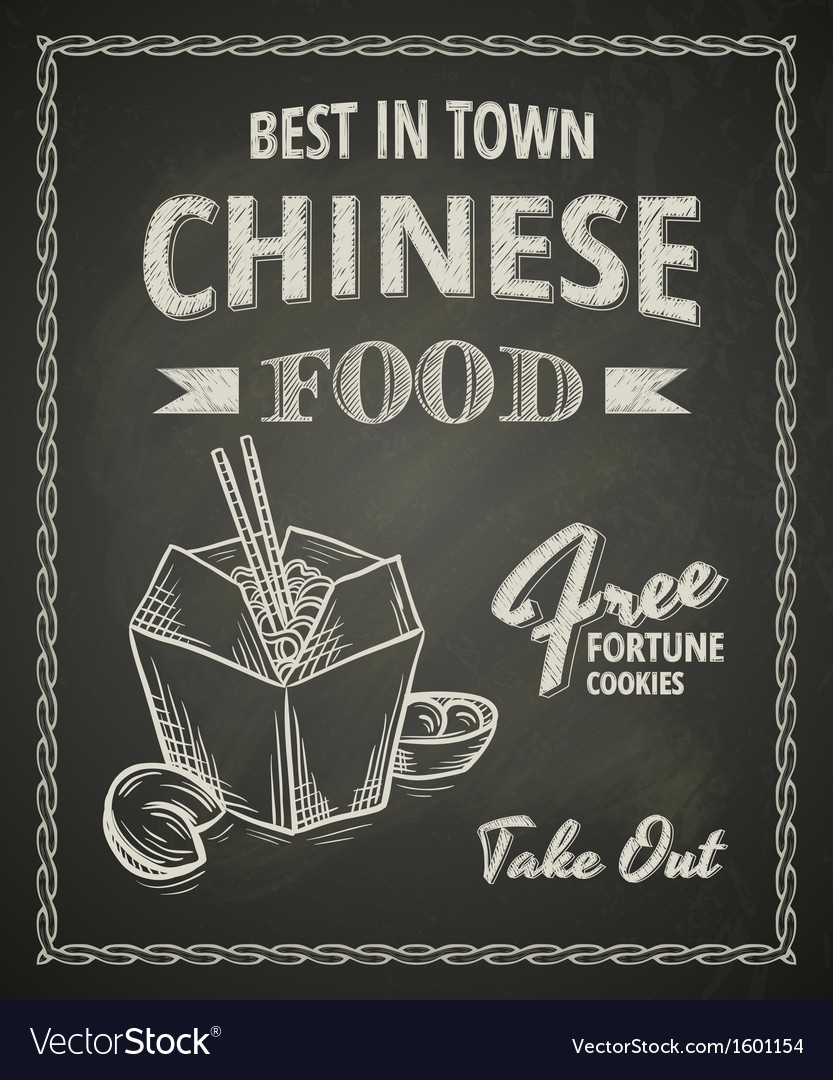 Chinese food poster vector | Price: 1 Credit (USD $1)