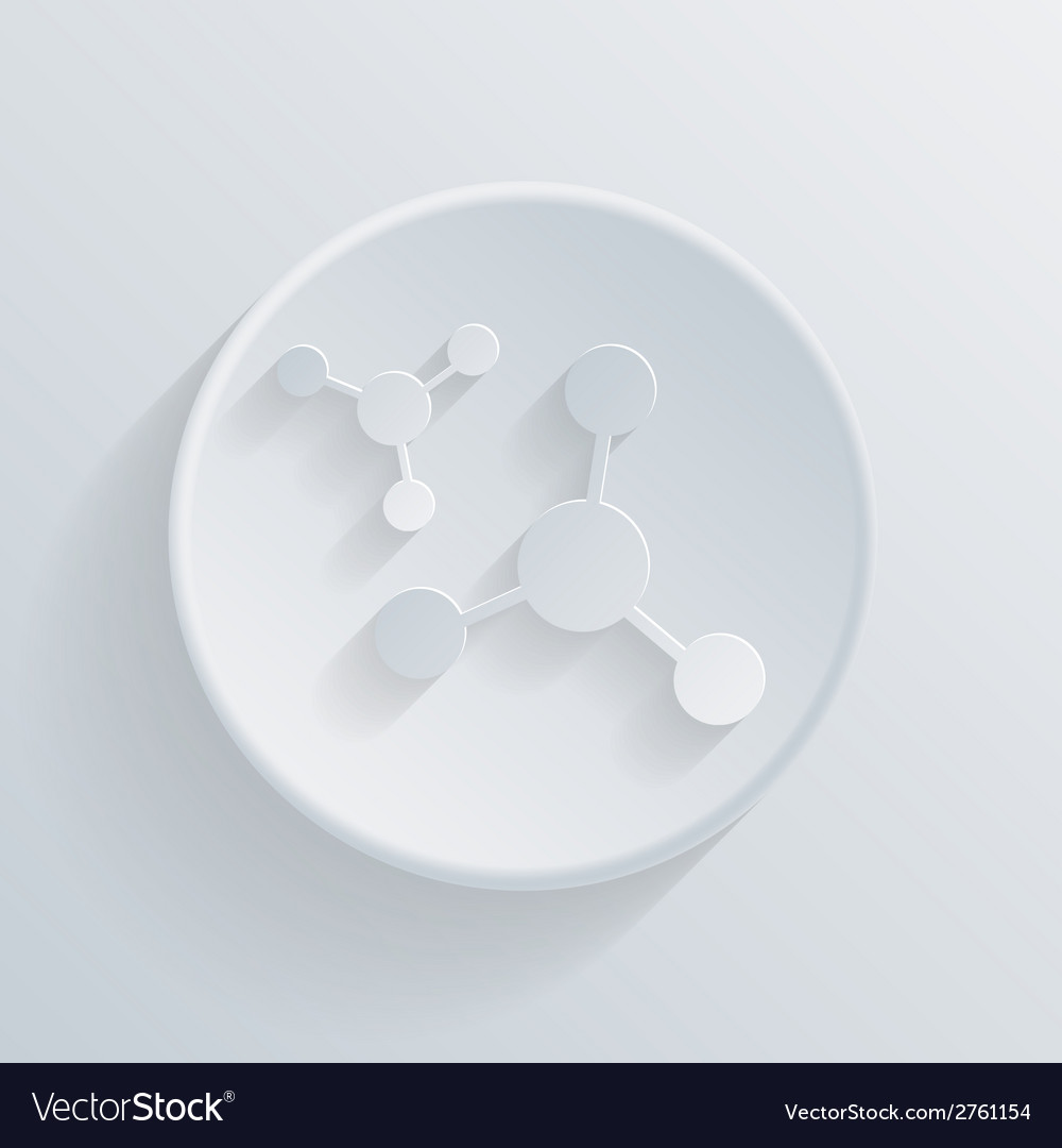 Circle icon with a shadow the atom molecule vector | Price: 1 Credit (USD $1)