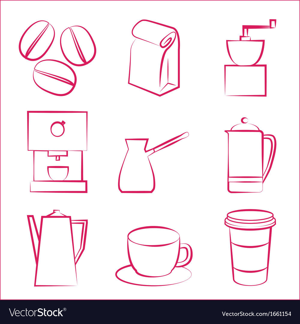Coffe icons vector | Price: 1 Credit (USD $1)