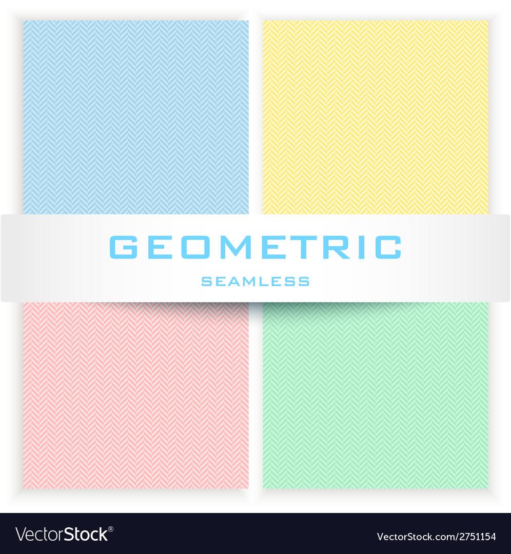 Herring bone seamless patterns set vector | Price: 1 Credit (USD $1)
