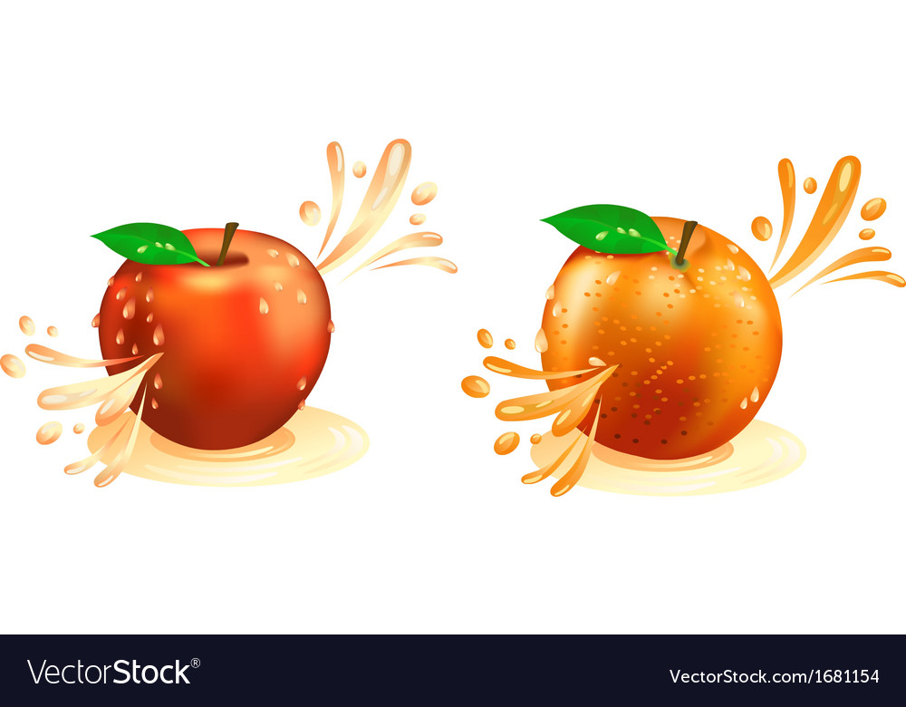 Juice squirting out of fruit vector | Price: 1 Credit (USD $1)