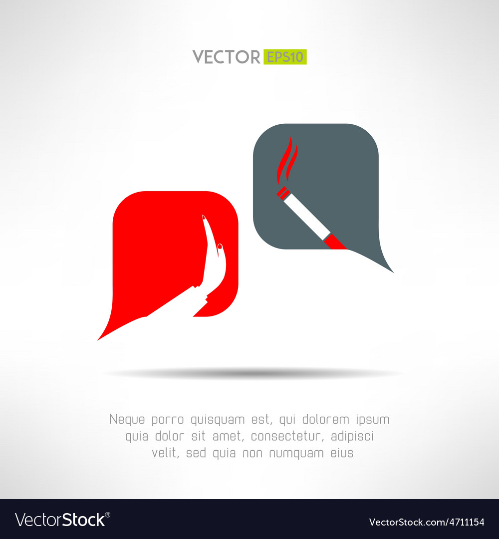 No smoking dialog bacbackground cigarette vector | Price: 1 Credit (USD $1)