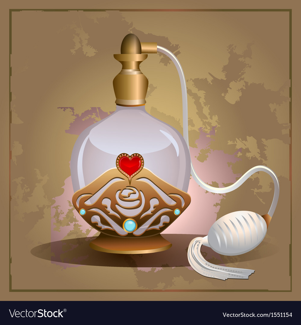 Perfume heart bottle vector | Price: 1 Credit (USD $1)