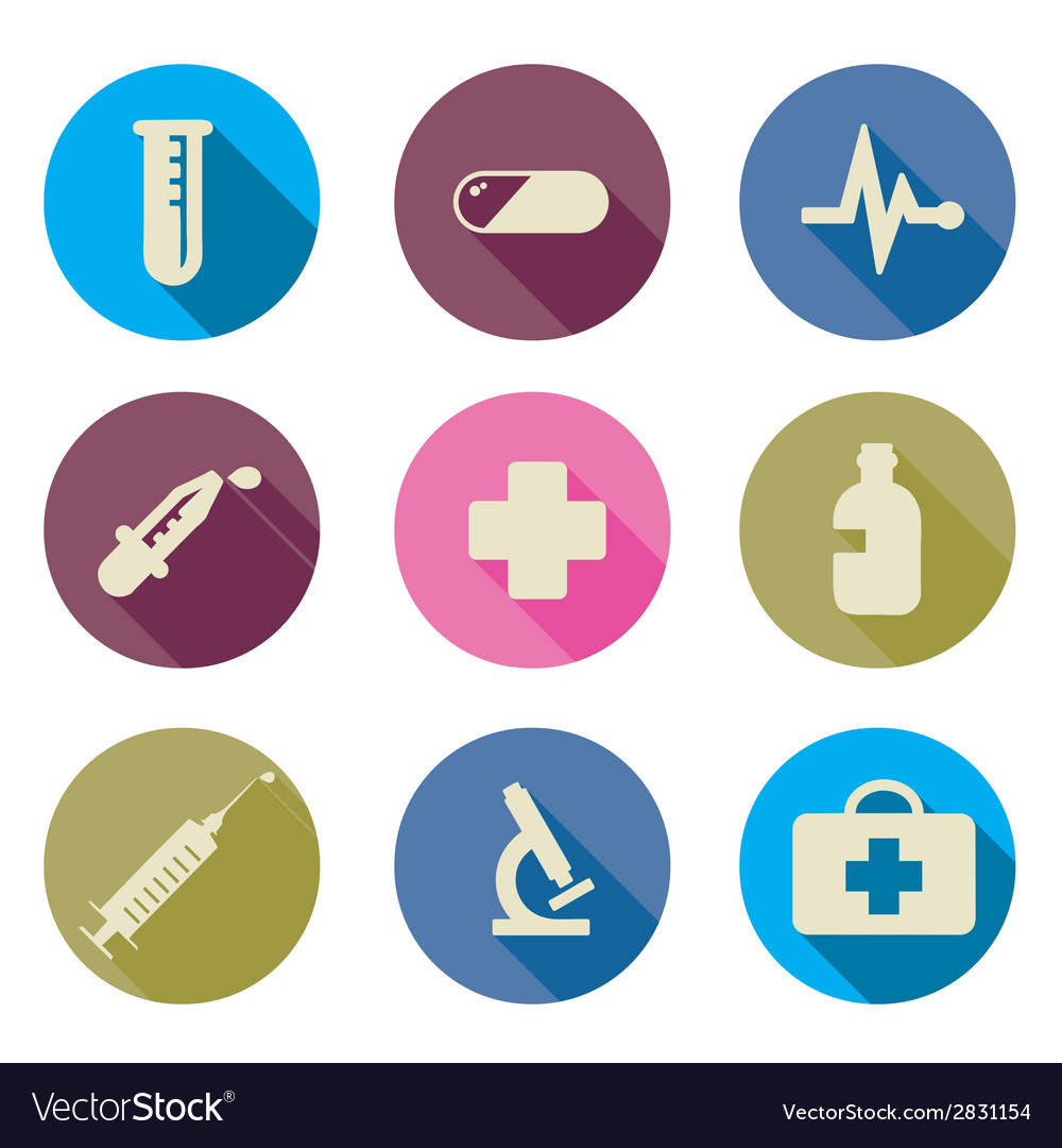 Set of medical icons flat vector | Price: 1 Credit (USD $1)