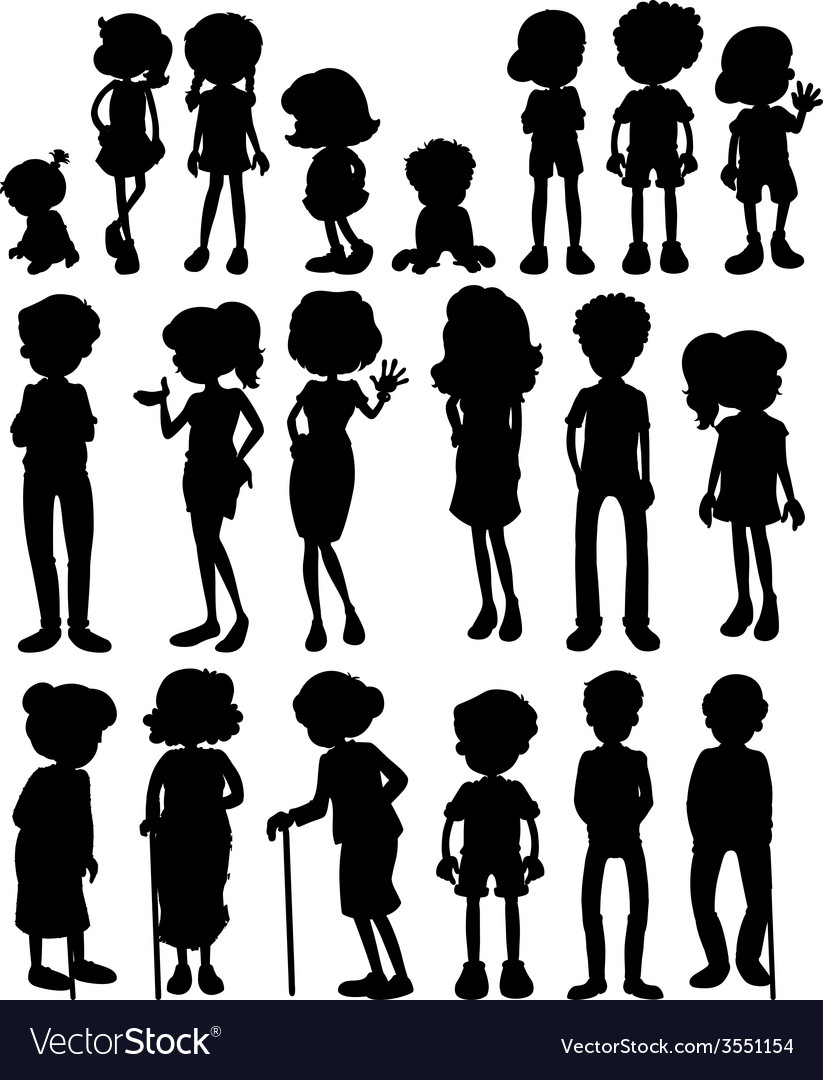Silhouette people vector | Price: 1 Credit (USD $1)