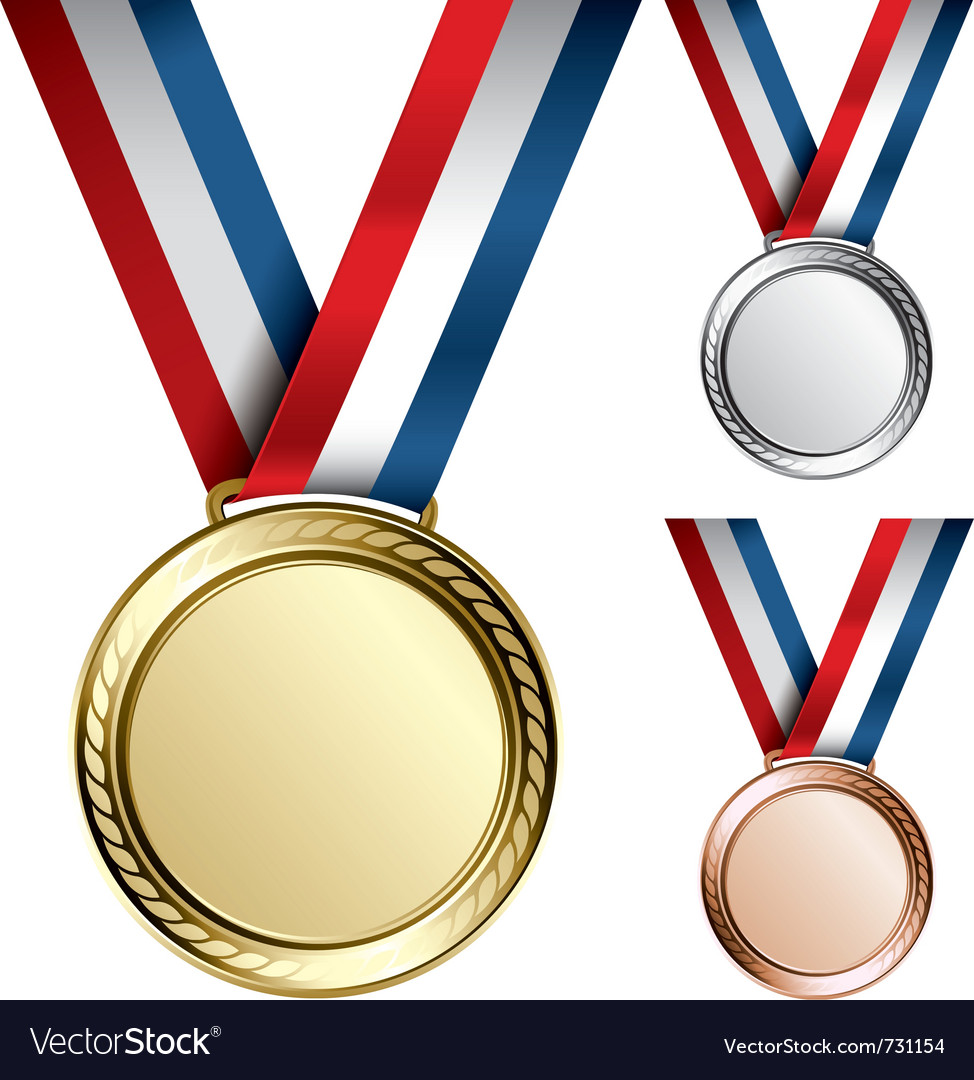 Three medals vector | Price: 1 Credit (USD $1)