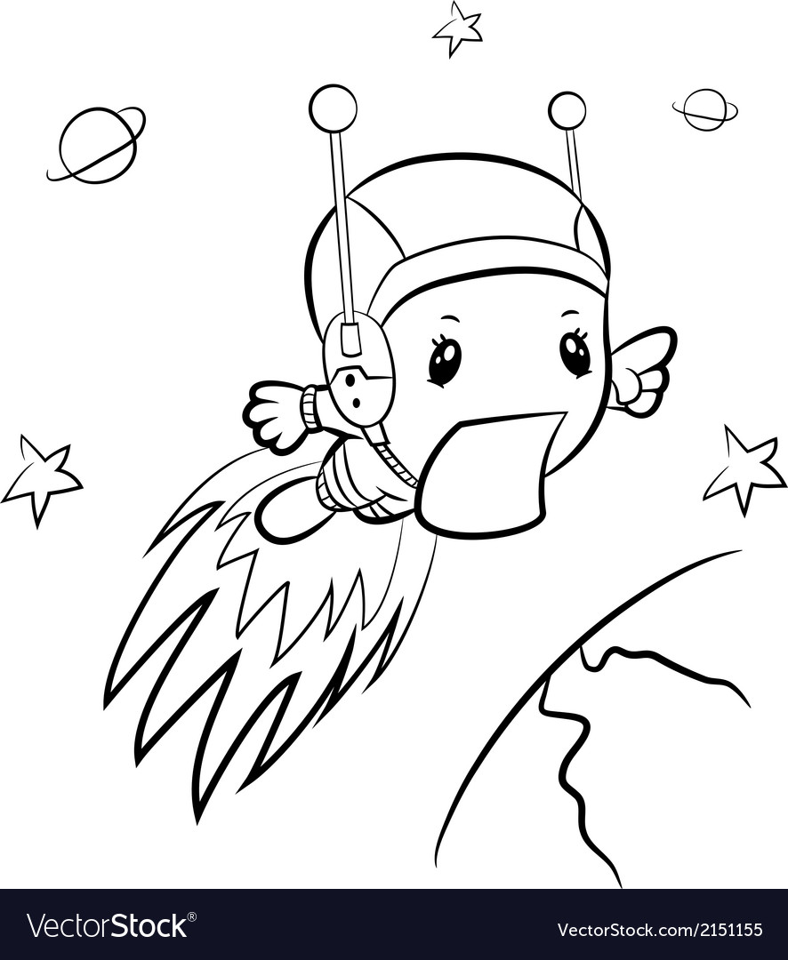 Cartoon boy-astronaut vector | Price: 1 Credit (USD $1)