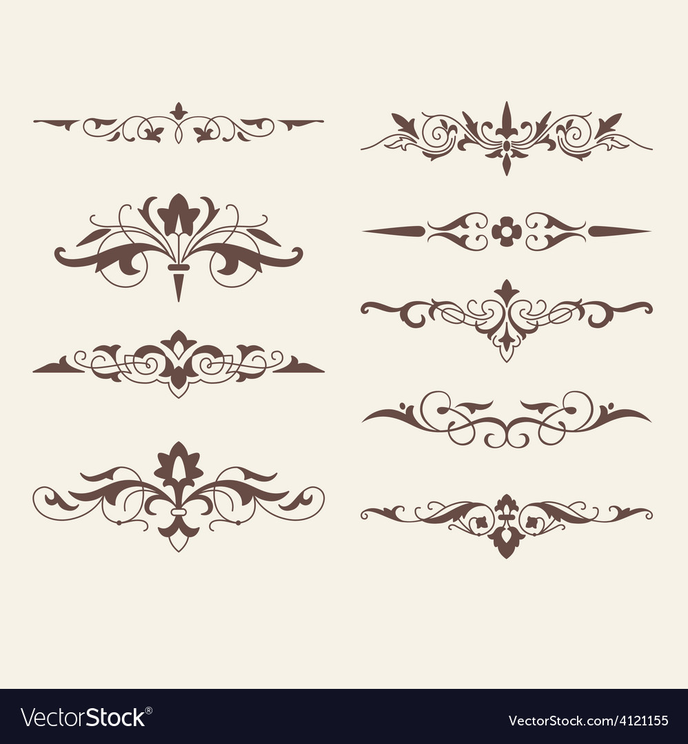 Curled calligraphic design elements for logo vector | Price: 1 Credit (USD $1)