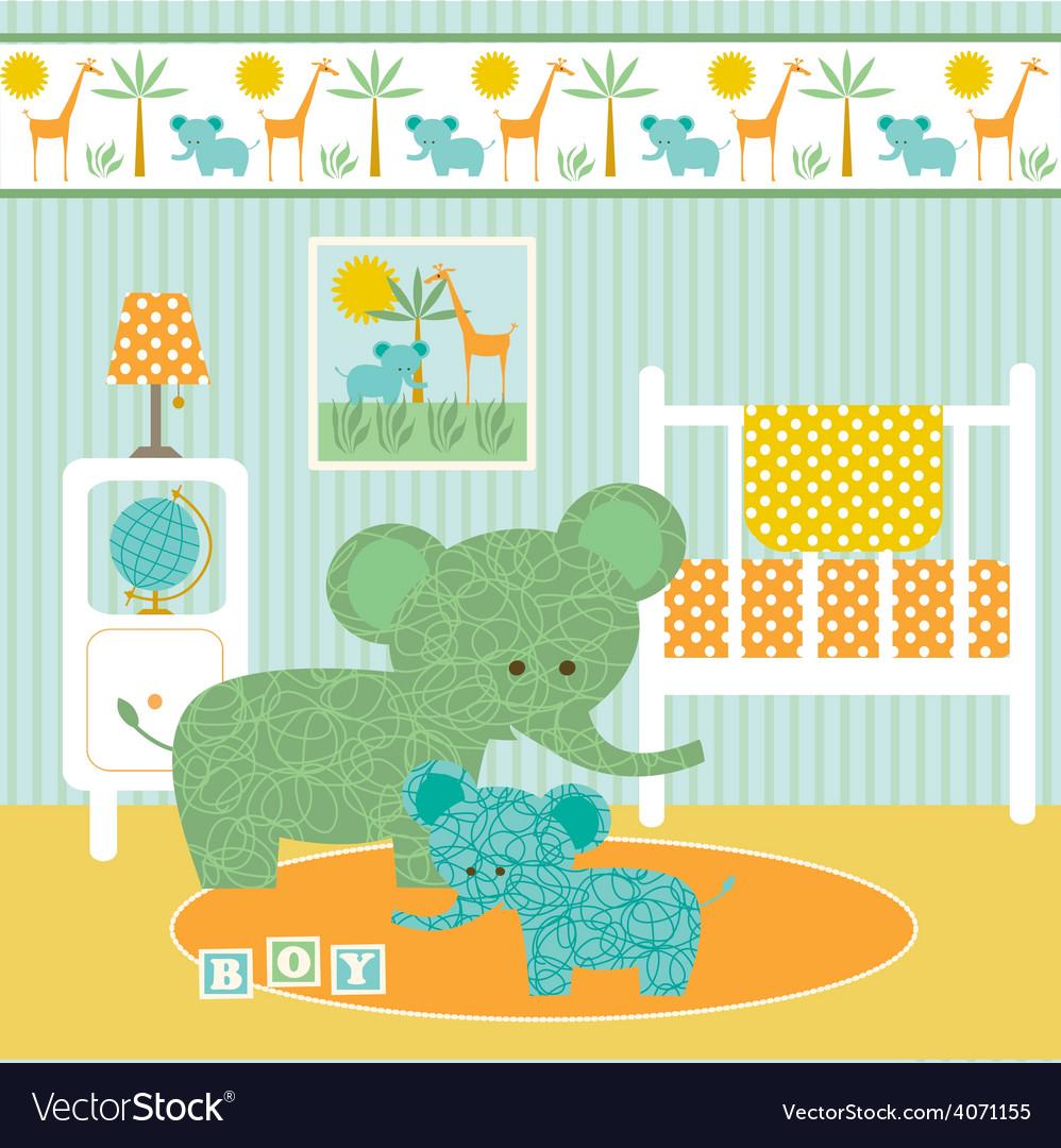 Elephant nursery vector | Price: 1 Credit (USD $1)