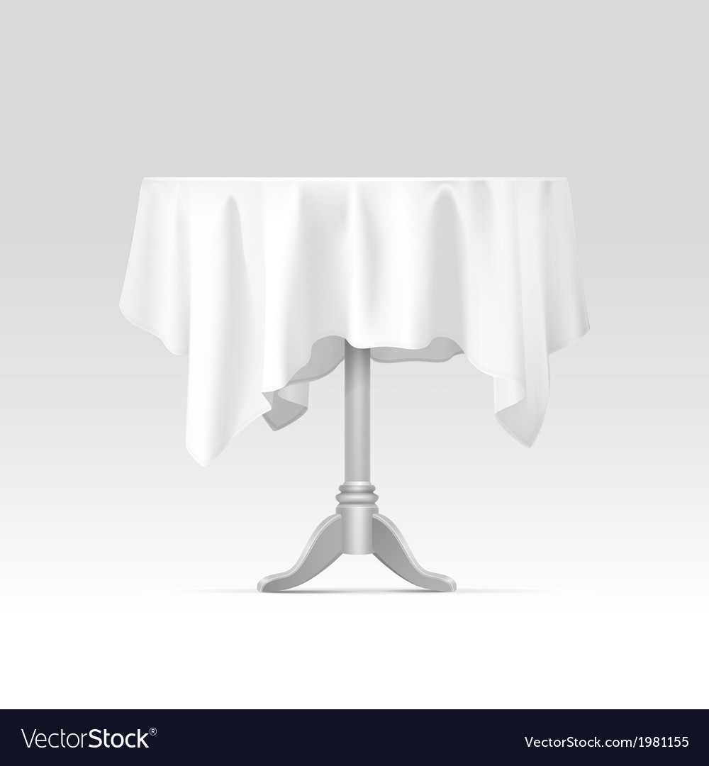 Empty round table with tablecloth vector | Price: 1 Credit (USD $1)