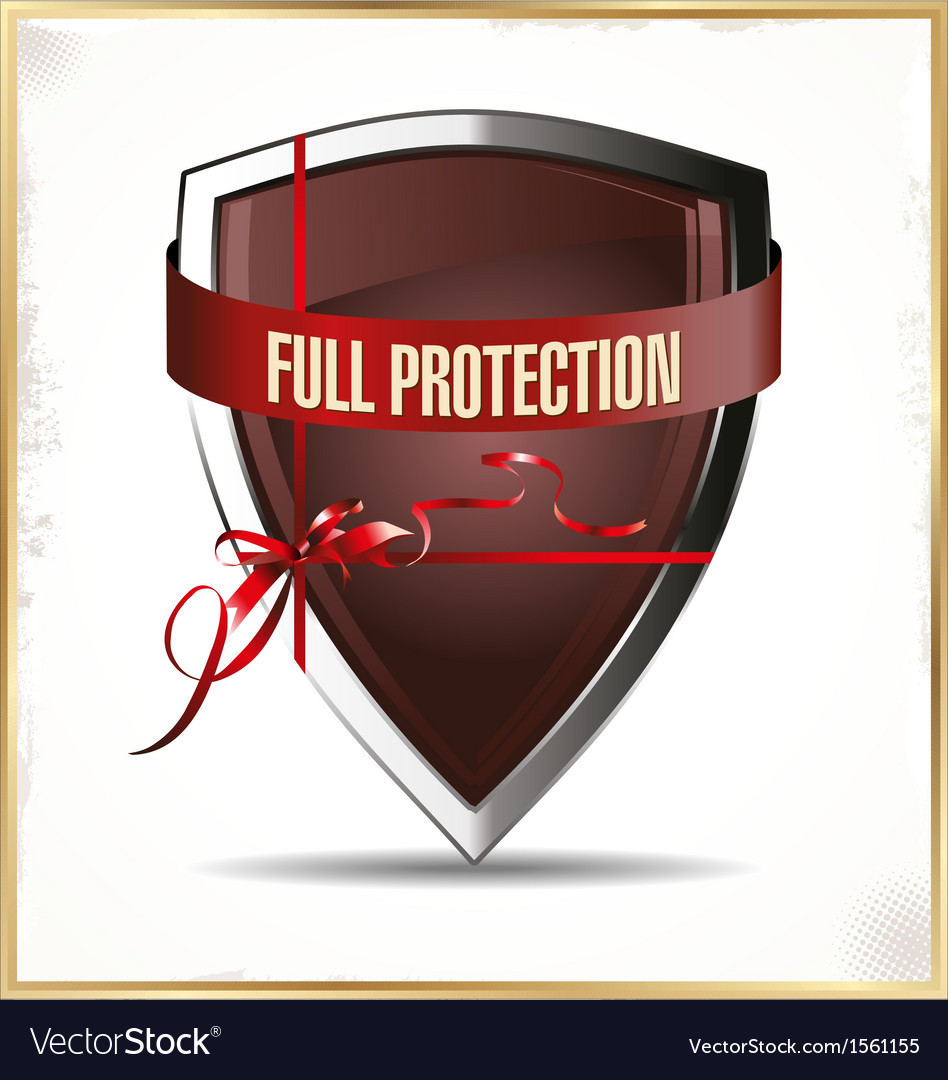 Full protected shield vector | Price: 1 Credit (USD $1)
