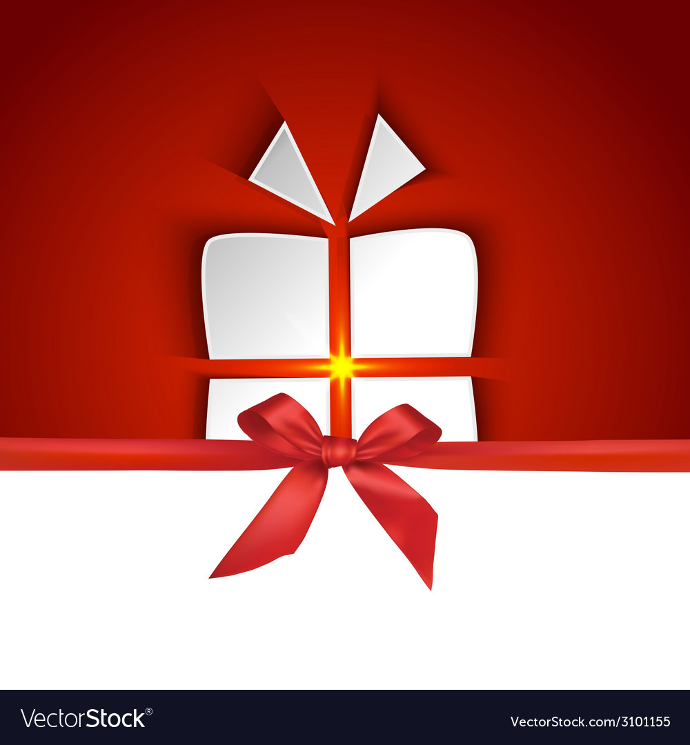 Gift box shape with shadow effect vector | Price: 1 Credit (USD $1)