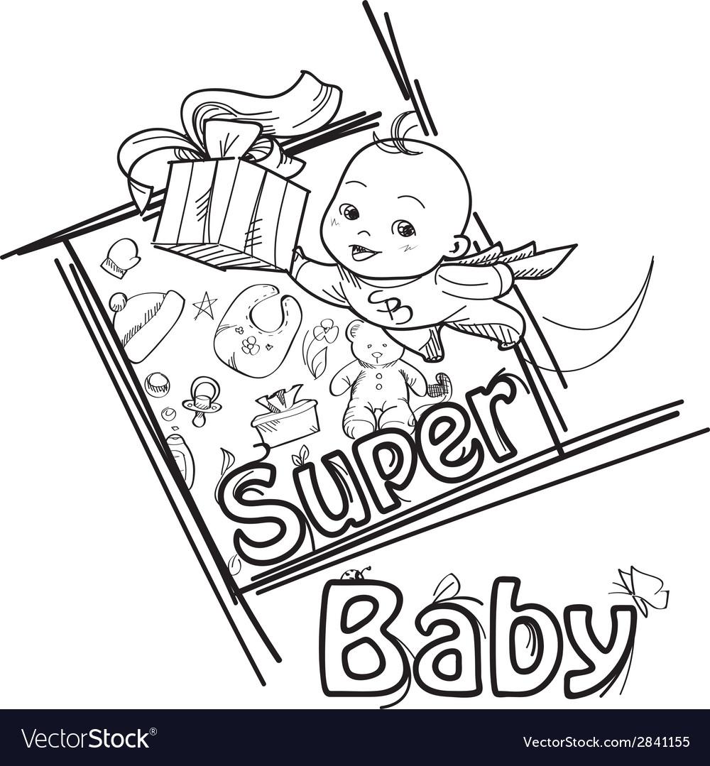Super baby vector | Price: 1 Credit (USD $1)