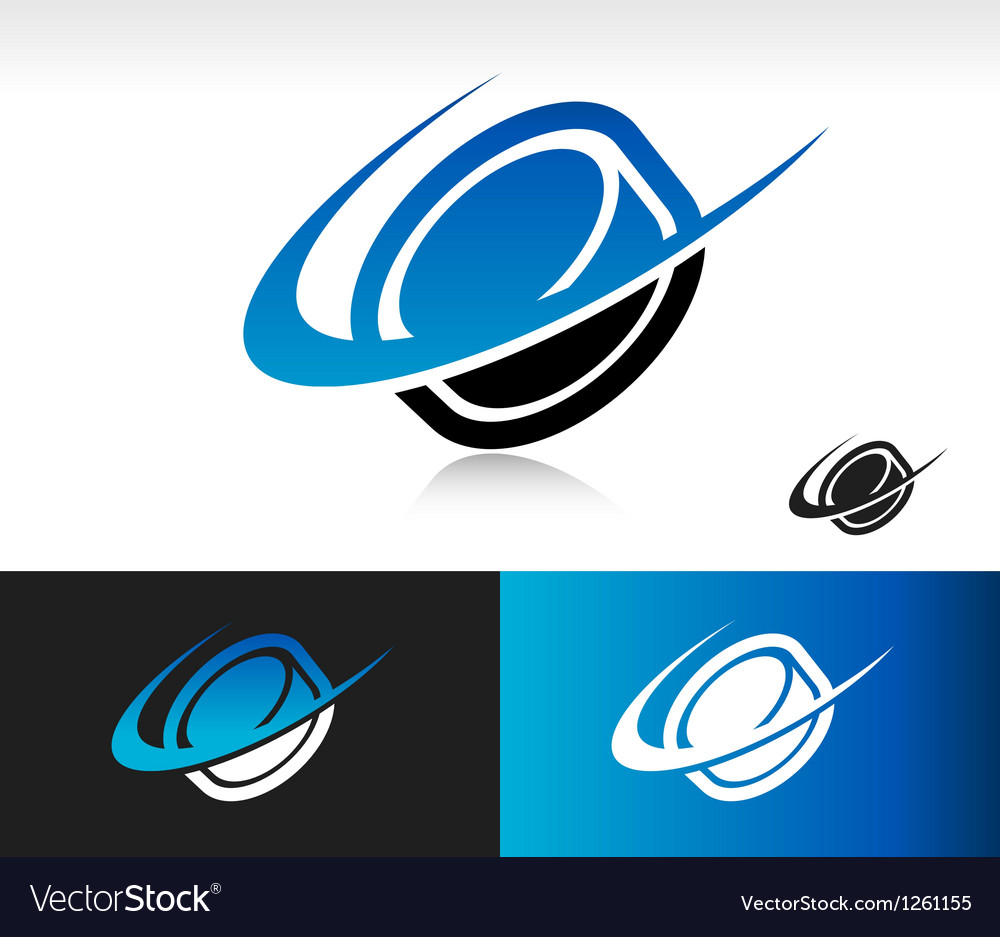 Swoosh hockey puck logo icon vector | Price: 1 Credit (USD $1)