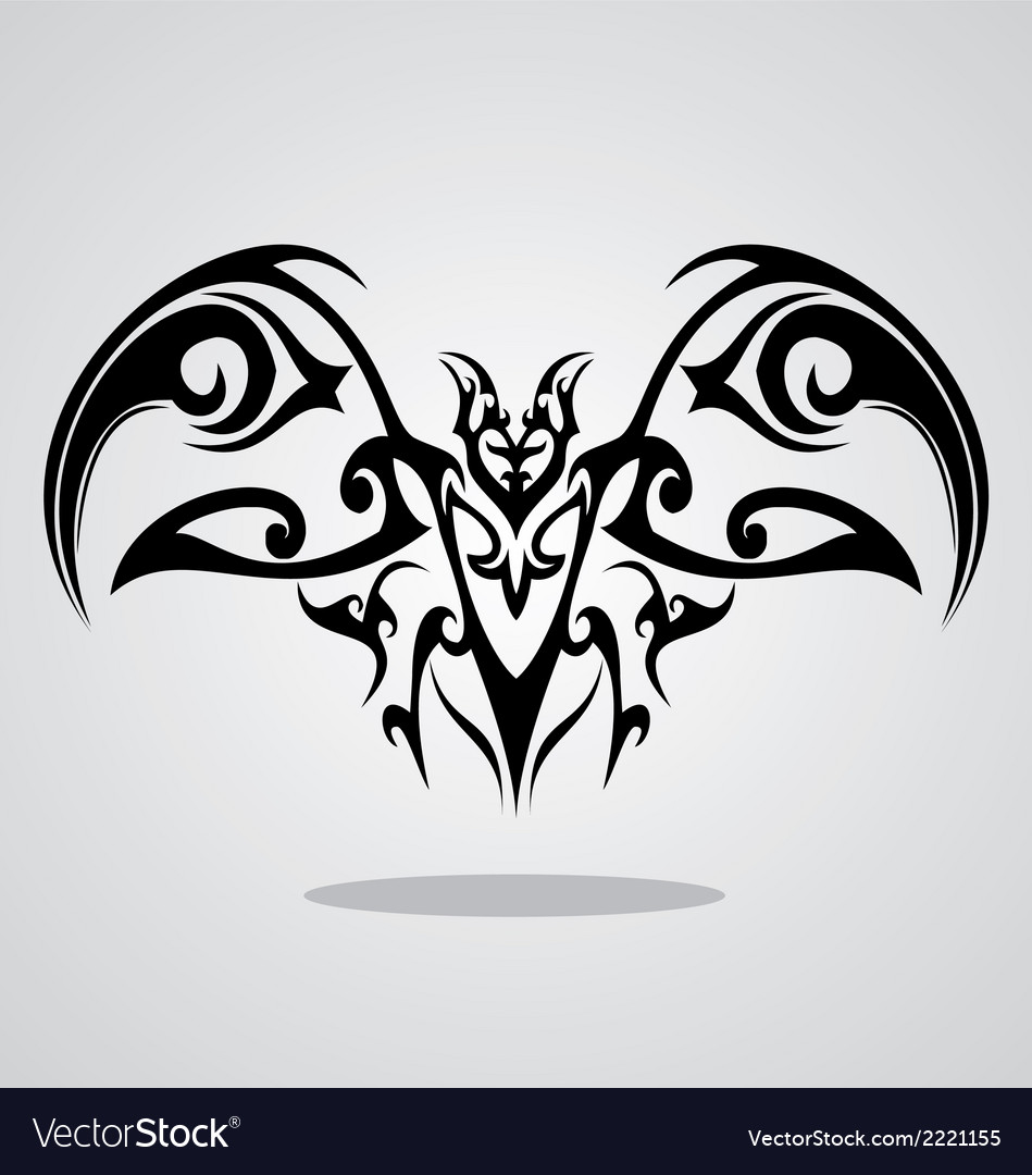 Tribal bat vector | Price: 1 Credit (USD $1)