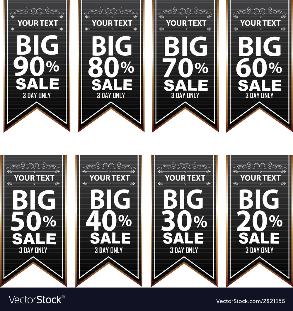 Big sale best offer badge sticker banner label vector | Price: 1 Credit (USD $1)