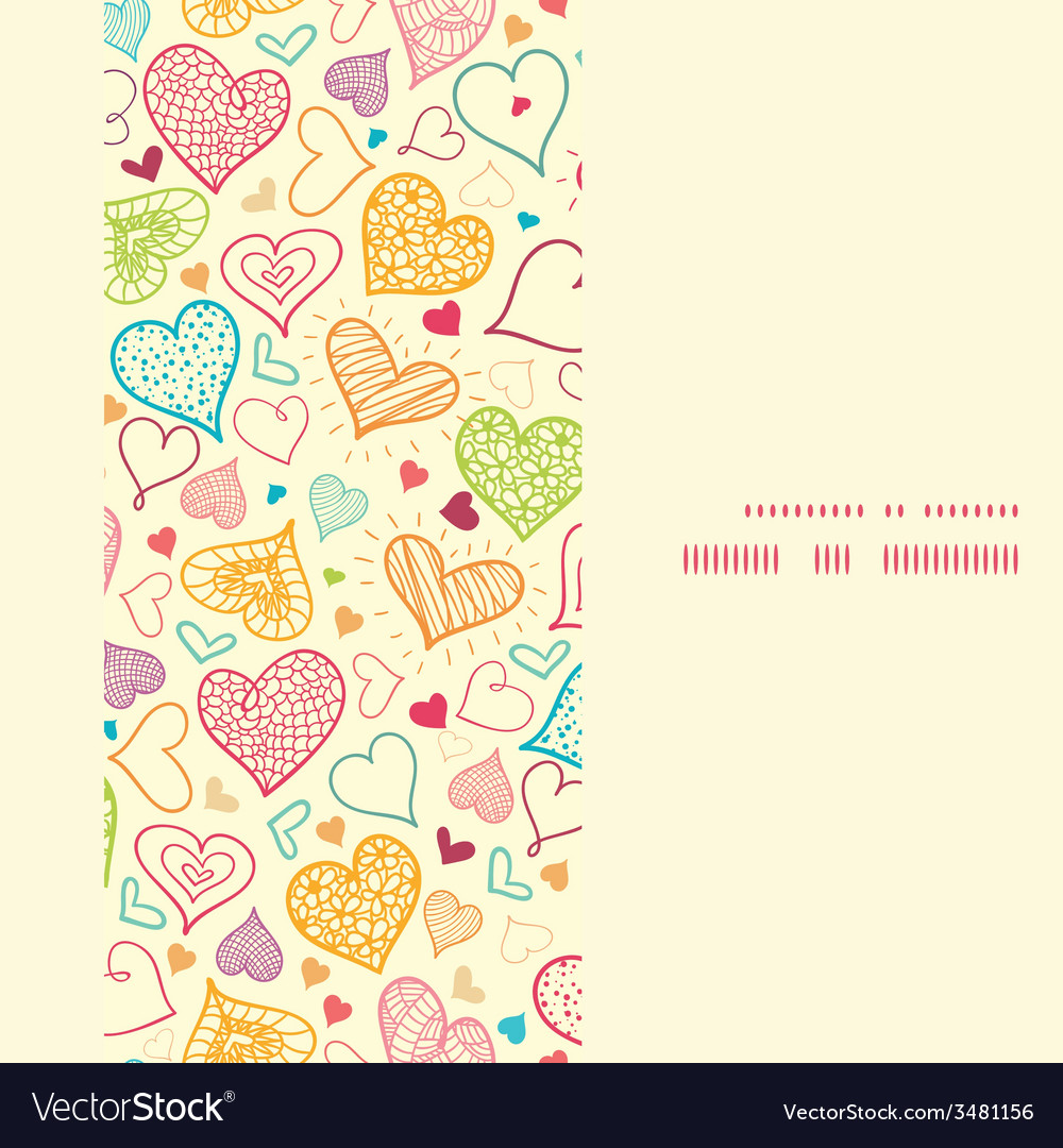 Doodle hearts heart silhouette pattern frame vector | Price: 1 Credit (USD $1)