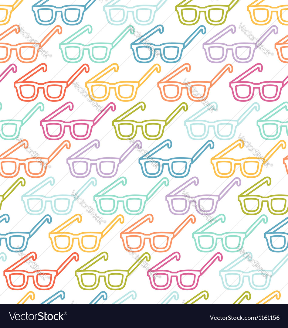 Glasses pattern vector | Price: 1 Credit (USD $1)