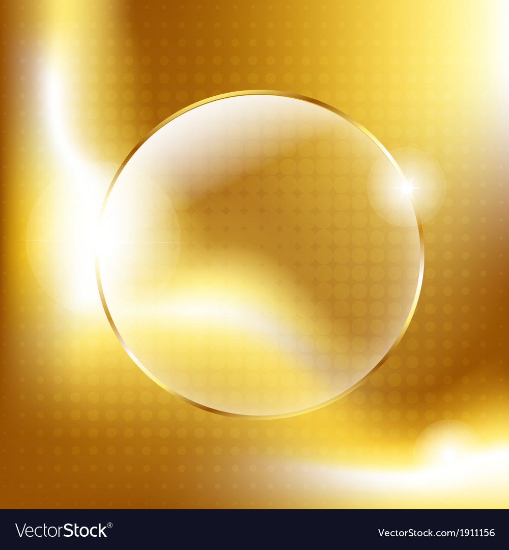 Gold background with gold glass balls vector | Price: 1 Credit (USD $1)