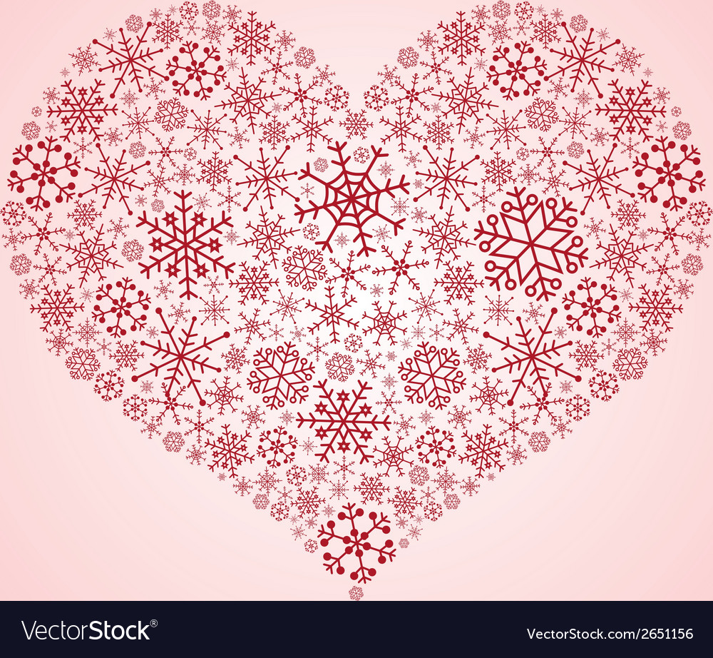 Heart from snowflakes eps10 vector | Price: 1 Credit (USD $1)
