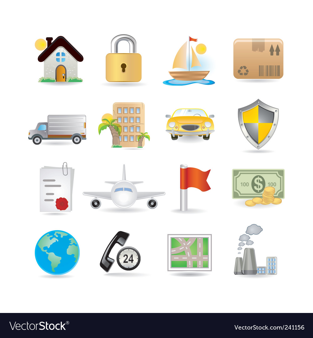 Insurance icons vector | Price: 3 Credit (USD $3)
