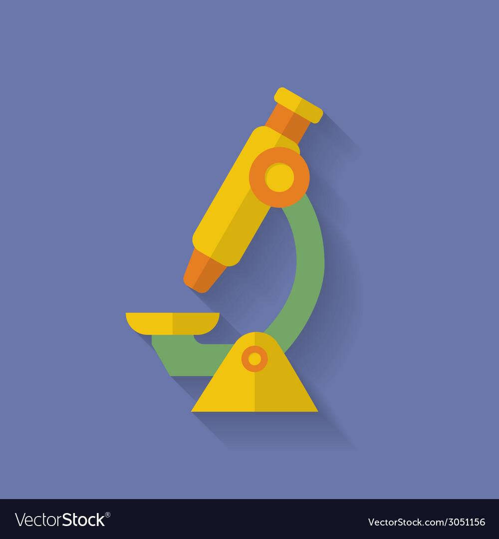 Microscope icon flat style vector | Price: 1 Credit (USD $1)
