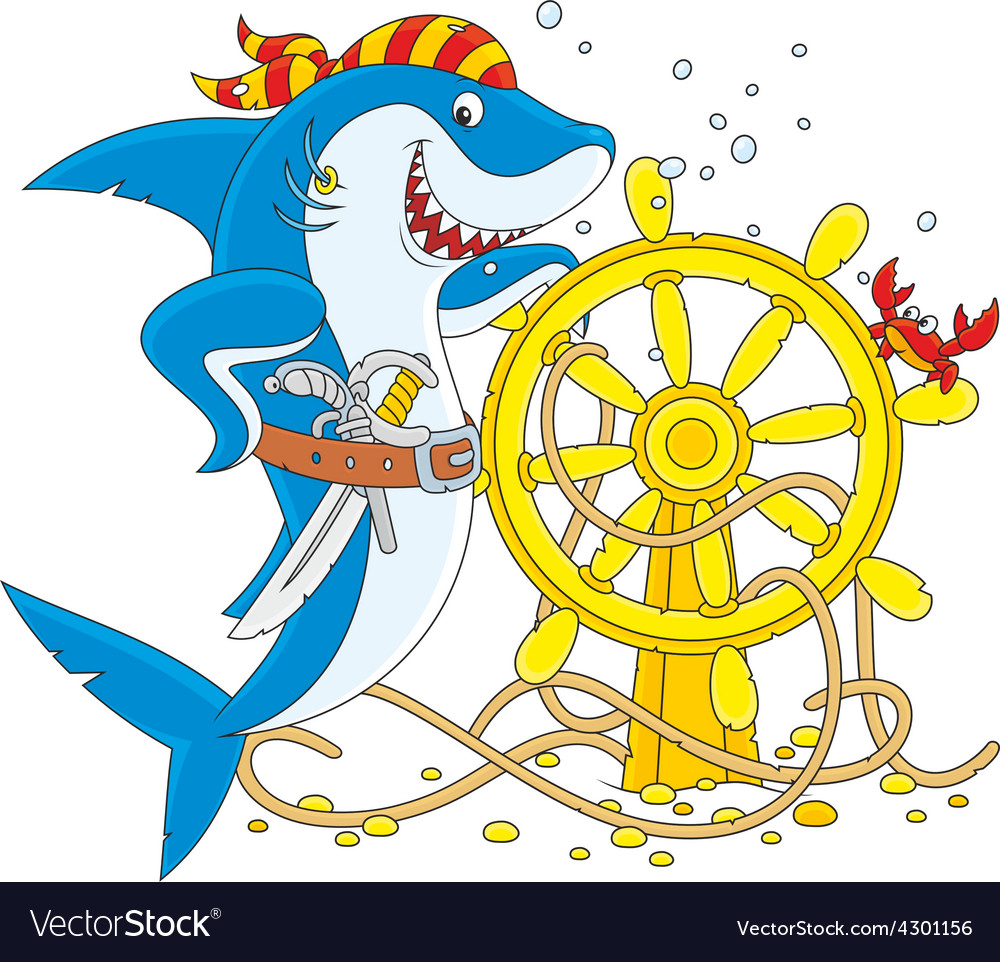 Pirate shark vector | Price: 1 Credit (USD $1)