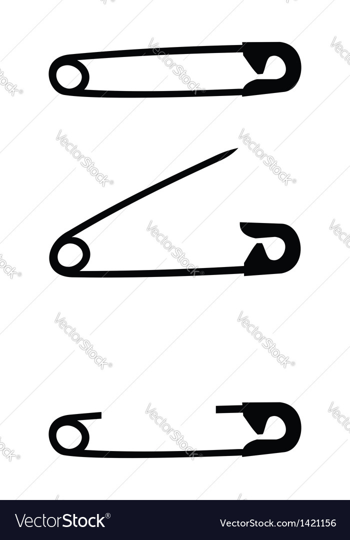 Safety pin isolated vector | Price: 1 Credit (USD $1)