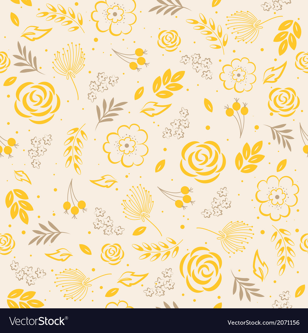 Seamless pattern yellow vector | Price: 1 Credit (USD $1)