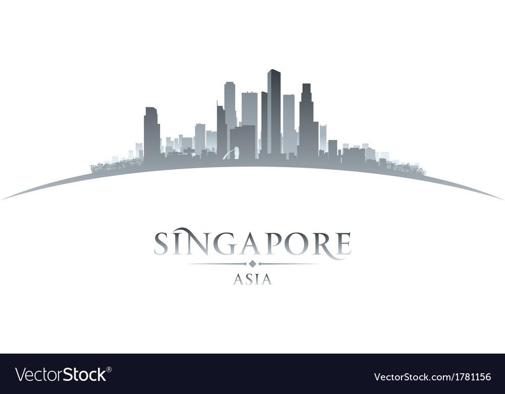 Singapore asia city skyline silhouette vector   Price: 1 Credit (USD $1)