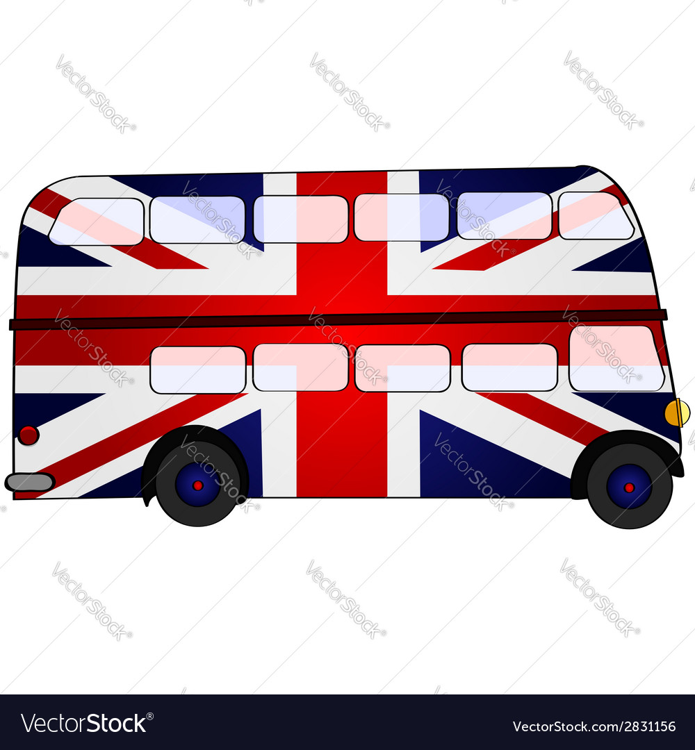Union jack bus vector | Price: 1 Credit (USD $1)